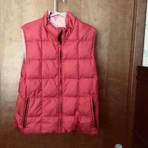 Land's End Woman's reversible Goose Down Vest